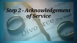Divorce: Acknowledgement of Service